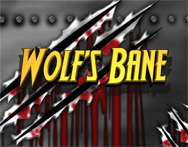 Wolf's Bane Font screenshot