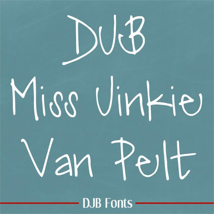 DJB Miss Jinkie Van Pelt Font blackboard text