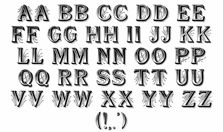 Showboat font by David Rakowski