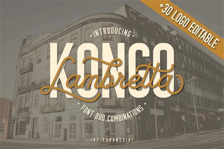 KONGO STAMP Font poster typography
