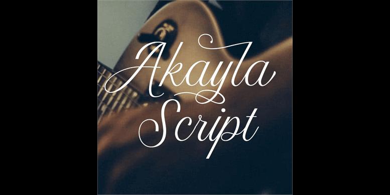 Thumbnail for Akayla Script PERSONAL USE