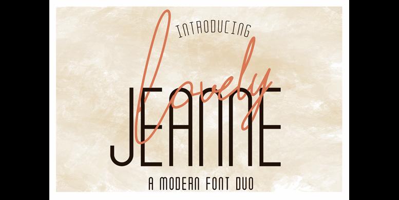 Thumbnail for Lovely Jeanne Script