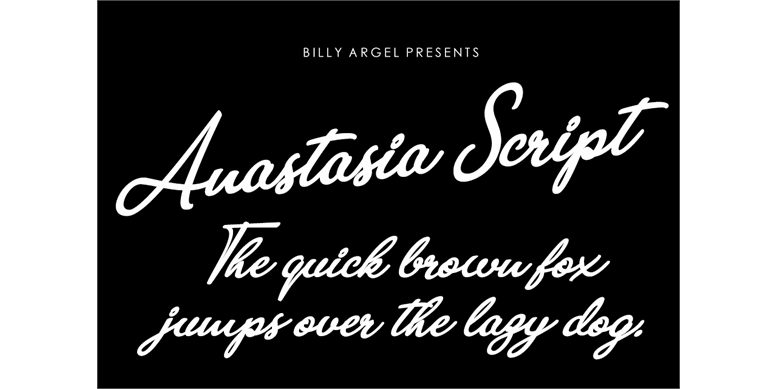 Thumbnail for Anastasia Script Personal Use