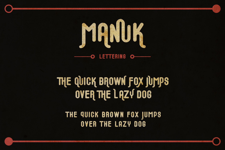 Manuk Font - FontSpace