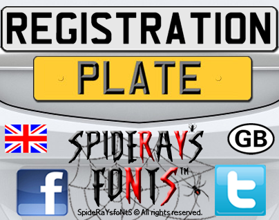 License plate Fonts - Download 11 free styles - FontSpace