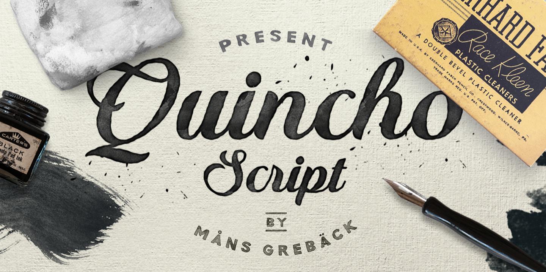 Quincho Script PERSONAL USE Font - FontSpace