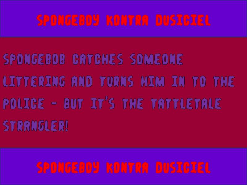 Spongeboy Kontra Dusiciel Font Fontspace