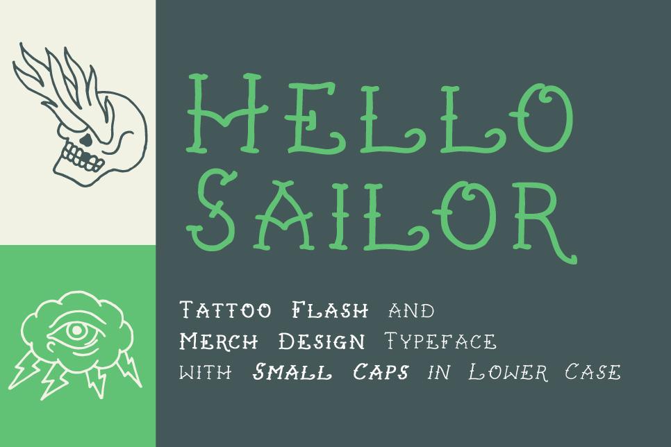Hello Sailor Font - FontSpace