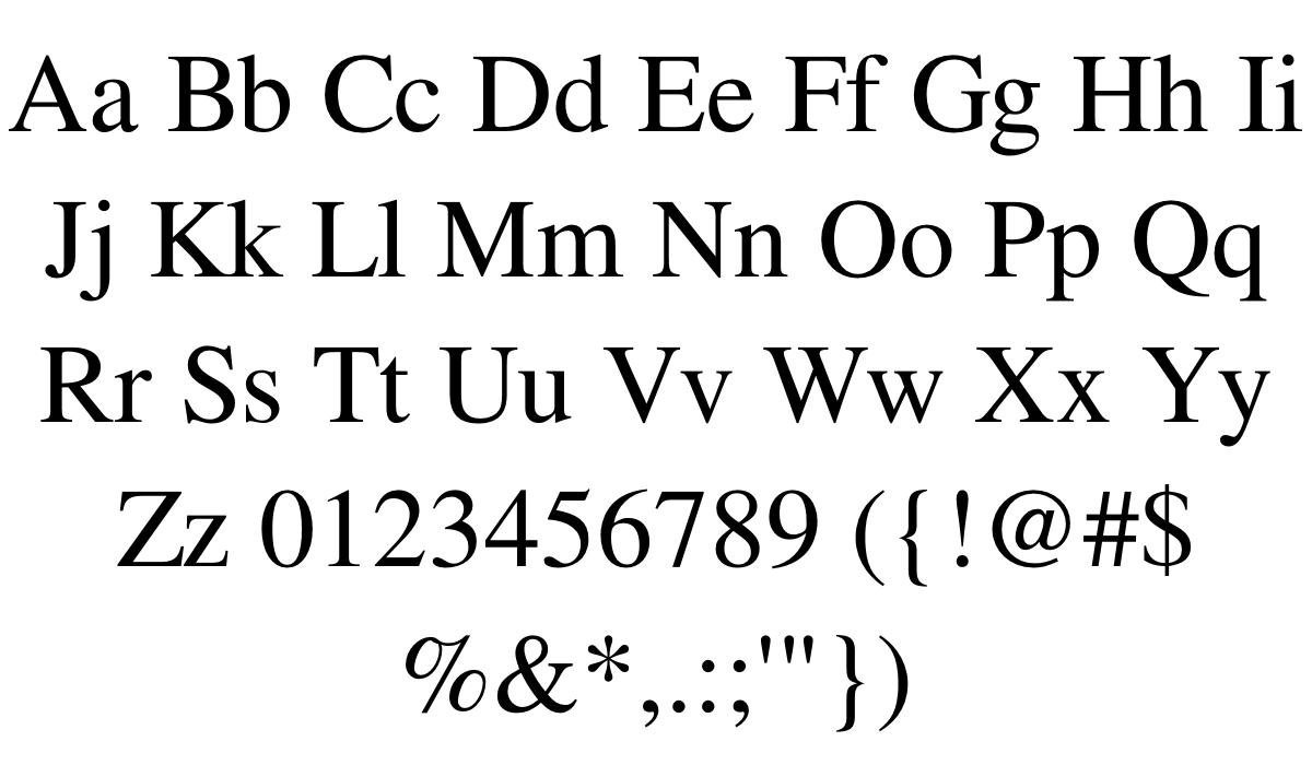 FreeSerif Font - FontSpace
