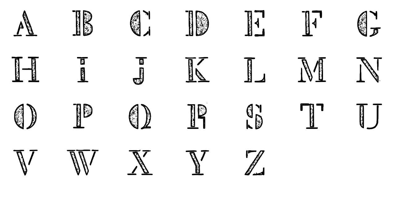 Mck Stencil Xray Font - FontSpace