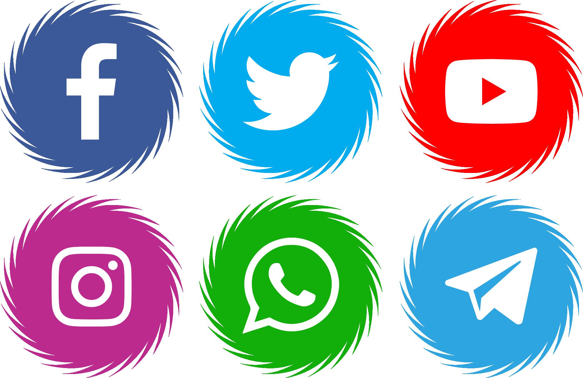 Icons Social Media 15 Font - FontSpace