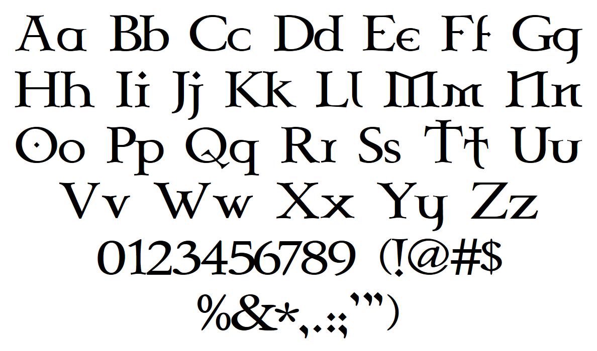 Celtic Garamond the 2nd Font - FontSpace