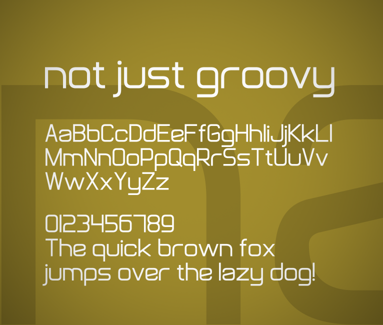 Not Just Groovy Font - FontSpace