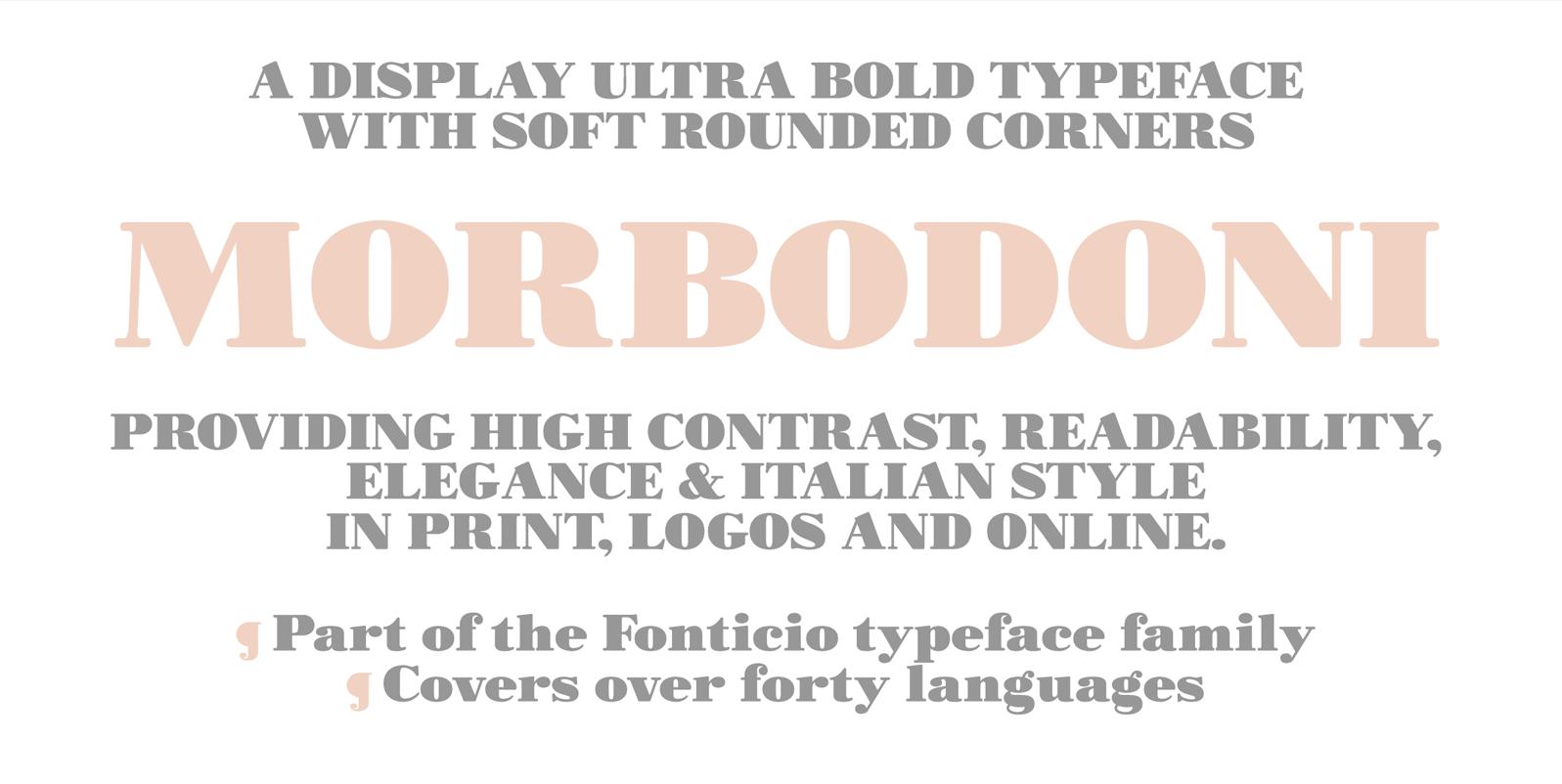 Bodoni, Serif Fonts - 10 styles - FontSpace