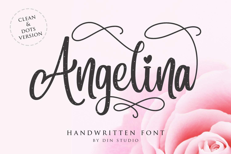 Angelina Font Fontspace