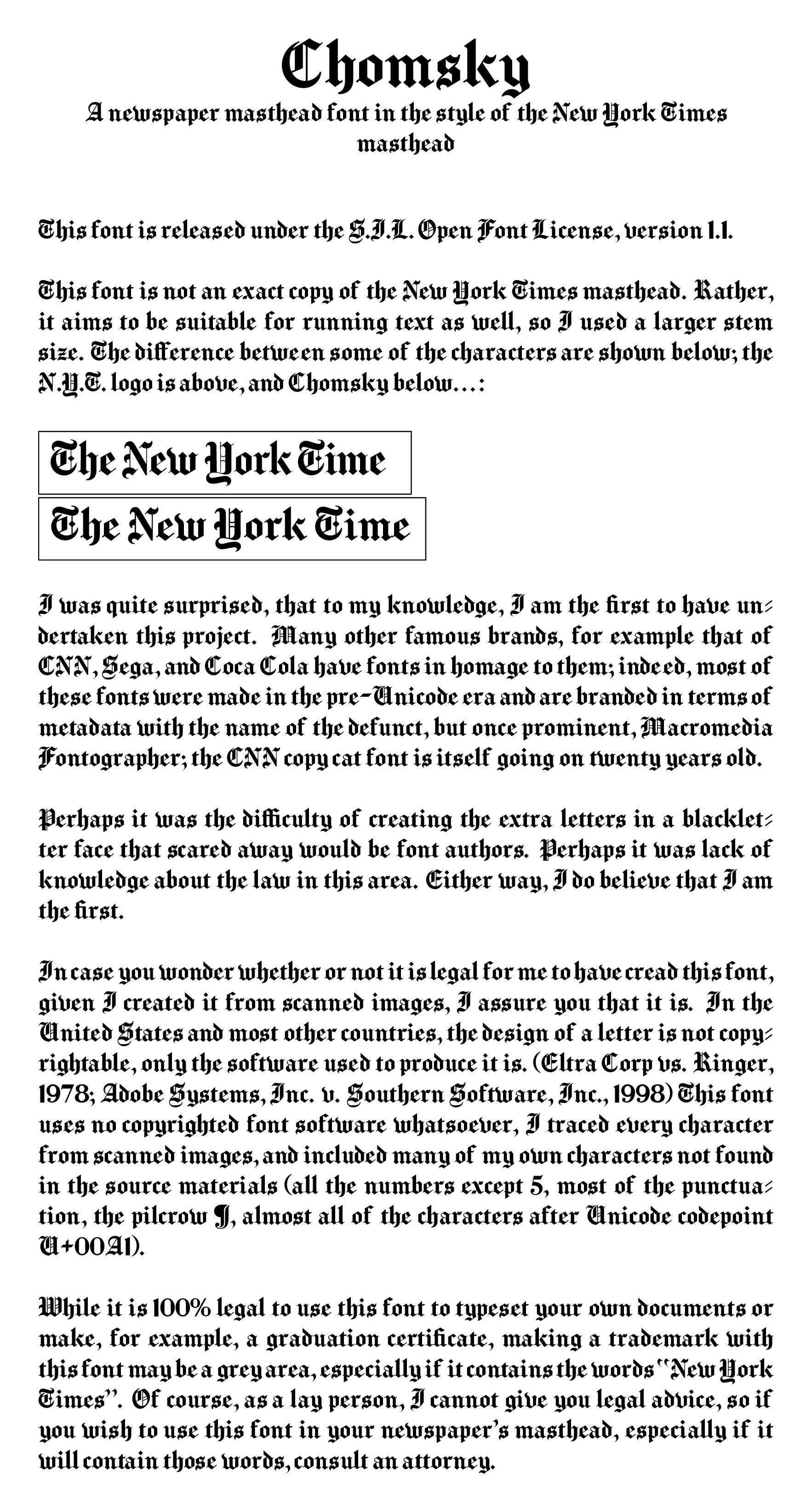 Chomsky Font - FontSpace