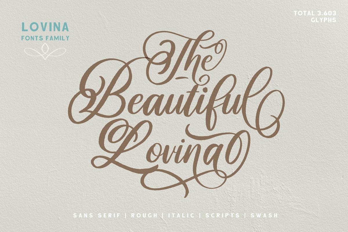 Beautiful Lovina Font Fontspace