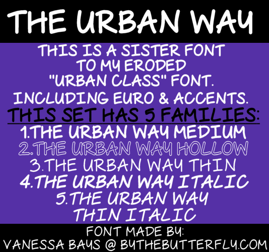 The Urban Way Font - FontSpace