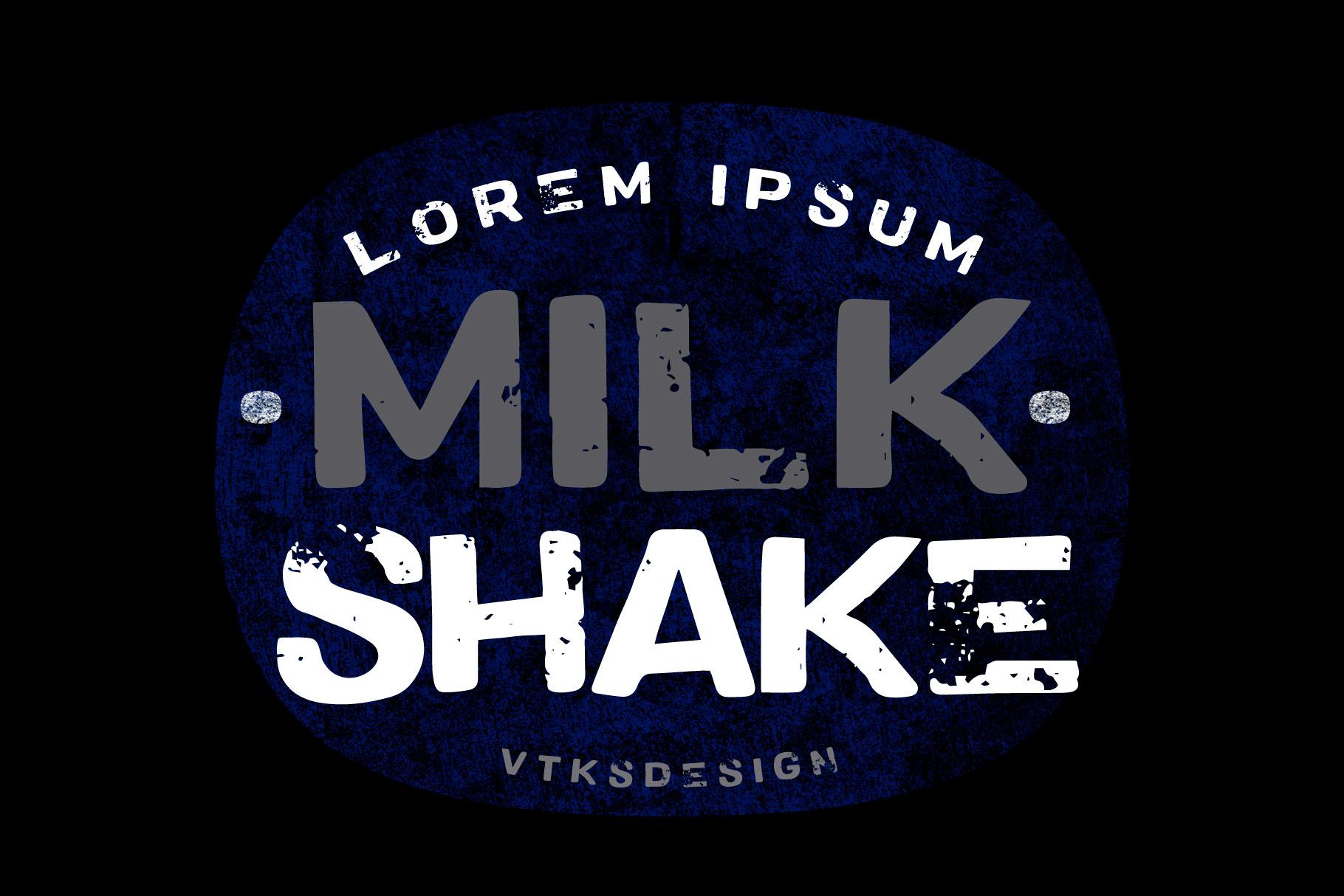 Vtks MilkShake Font - FontSpace