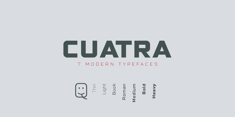 Cuatra Bold Font - FontSpace